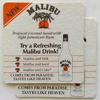 New Malibu Tropical Coconut Laced with Light Jamaican Rum 2 x Coaster (B316)