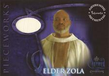 """Charmed Conversations: PWCC6 James Avery """"Elder Zola's Robes"""" White Costume Card"""