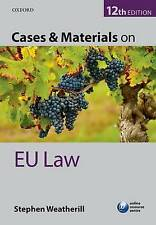 Cases & Materials on EU Law,PB,Stephen Weatherill - NEW