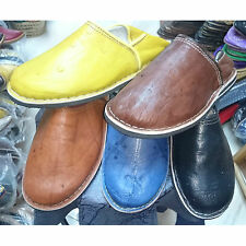 Berber Moroccan Babouches Slippers for Men, Handmade Leather, Of Choice