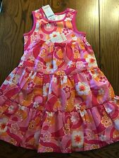 *NWT GYMBOREE* Girls RAINBOW CABANA 2 Piece Pink Floral Tank Top Tiered Skirt 4
