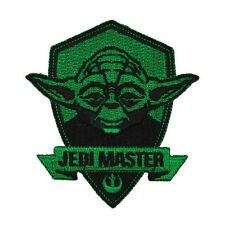 "Yoda ""Jedi Master"" Patch Light Side Force Badge Star Wars Fan Iron-On Applique"