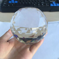 Clear Cut Crystal Sphere 50-100MM Faceted Gazing Ball Prisms Suncatcher Home