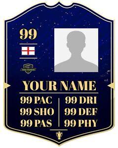 Personalised FIFA Ultimate Card Profile Quality Metal Sign, Football, Custom