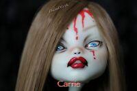 HORROR CUSTOM REPAINT OOAK ART DOLL Carrie Monster high