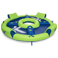 SwimWays Kelsyus Big Inflatable Nauti Elite Tube 4 Person Pool Floating Raft