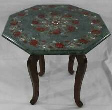 "15""x15"" With Stand Beautiful Marble Coffee Table Top Inlay Floral Design"