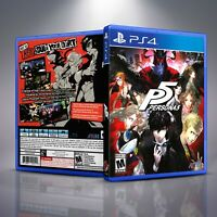 Persona 5 P5 - Replacement PS4 Cover and Case. NO GAME!!