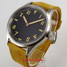 PARNIS 43mm orange California dial sapphire crystal hand winding 6497 mens watch