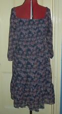 Next Maternity size 14 multi floral chiffon 3/4 sleeve off the shoulder dress