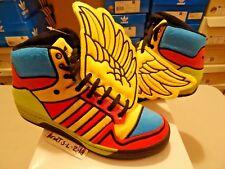 NEW Adidas JEREMY SCOTT WINGS JS OBYO Sneakers CHENILLE G61380 SZ 7.5 BEAR BONE