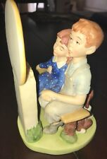 "1980 Danbury Mint Norman Rockwell ""Young Love"" W/Puppy Porcelain Figurine The 12"