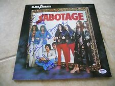 Black Sabbath Sabotage Signed Autographed All 4 LP Poster Flat PSA Certified