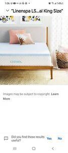 LINENSPA 3 Inch Gel Infused Memory Foam Mattress Topper - California King