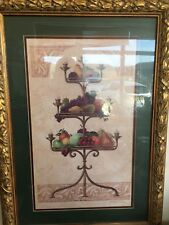 Pair of Fabulous VERY LARGE Ornate Framed prints Of Fruit