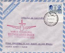 AVIATION : 1960 ARGENTINA First Boeing Flight -Buenos Aires to Paris -cachets