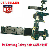 32GB Main Motherboard For Samsung Galaxy Note 4 SM-N910T Unlocked Logic Board US