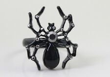 R257 Betsey Johnson Halloween Spider Tarantula Black Widow Adjustable Ring US