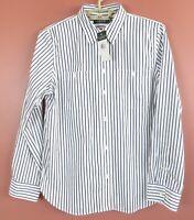 TB09753- NWT RALPH LAUREN Women 100% Cotton 2-Way Sleeve Blouse Striped L $89.50