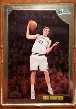 1998-99 Topps Chrome Dirk Nowitzki rookie Mint Mavericks #154 MVP HOF