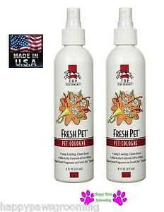2-Top Performance Grooming FRESH PET Dog Cat Cologne&Deodorant MIST Pump Spray