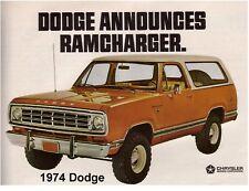 1974 Dodge Ram Charger Auto Refrigerator / Tool Box / Magnet