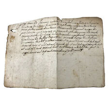 RARE Authentic Post Medieval Manuscript 1733 Paper Document French Old Europe
