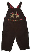 Gymboree Holiday Village Reindeer Girls Corduroy Overalls 12-18 M Christmas