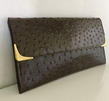 Holmes Vintage Genuine ostrich skin clutch bag