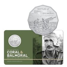 2018 Coral & Balmoral - Battles of Fire Support Bases 50c Coin