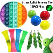 Pop It Fidget Sensory Toy Set Autismus SEN ADHS Fidget Stressabbau Spielzeug 12X