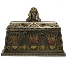 "5.75"" Egyptian Pharaoh Bust Trinket Box Egypt Decor Statue Figure Sculpture"