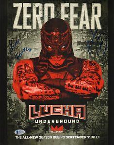 Pentagon Jr. Penta el 0M Signed 11x14 Photo BAS COA Lucha Underground Impact TNA