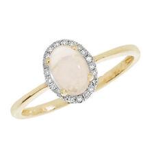 Echte Edelstein-Ringe aus Gelbgold mit Cabochon für Jahrestag