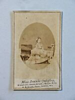 Late 1800's CDV Circus Performer Jennie Quigley Ukulele Scottish Queen