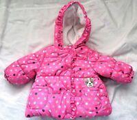 Carter Infant Girls Jacket Size 6-9 Mos. Child of Mine Pink Hooded Zipper & Snap