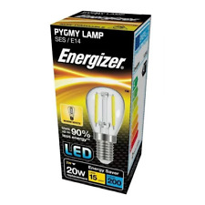 Energizer 2w (=20w) LED Clear Pygmy Bulb - Warm White 3000k (Small Edison Screw)