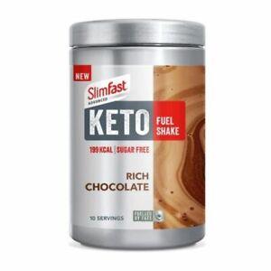 2 x Slim Fast Advanced Keto Fuel Shake Chocolate 350g
