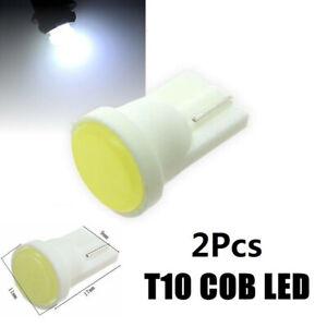 2X T10 Car Bulbs COB Led w5w 501 Side Lights Interior Number Plate Bulb Wedge UK