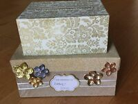 Personalized Custom Gold Floral Gift Card Holder Wedding Money Card Box Cardbox