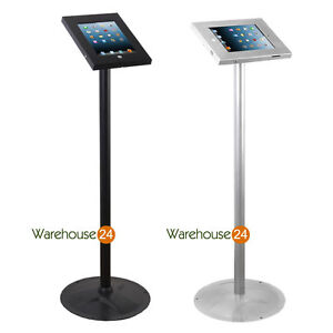 "New iPad 9.7"" Steel Secure Floor Display Stand With Screw Lock"