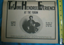 The Jimi Hendrix Experience Vintage 1969 Inglewood Forum L. A. Concert Promo Ad!