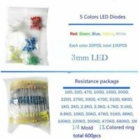 1390pcs Electronic Components LED Diode Transistor Capacitor Resistance Kit CR