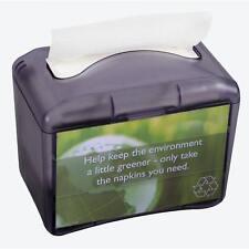 San Jamar H4004Tbk Black Plastic Countertop Mini Interfold Napkin Dispenser