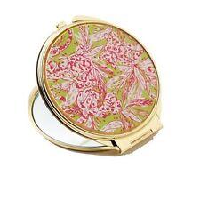 Nwt Lilly Pulitzer Gwp Lush Green Cougar Bar Compact Gold Mirror Htf