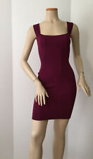 Vintage ALAIA Classic Curve Hugging So Sexy! Burgundy Red X Back Dress (Size S)