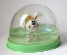 Vintage Easter Egg Shaped Bunny Collectible Snow Globe #223