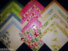 12X12 Scrapbook Paper Cardstock DCWV Magnolia Way Stack Butterfly Florals 24 Lot