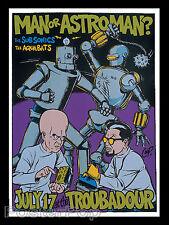 Coop Man or Astroman 96 Silkscreen Concert Poster Signed Troubadour Mint Robots