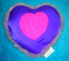 "Squeezy'S Valentines Day Heart Shaped 13"" Purple & Pink Beaded Pillow"